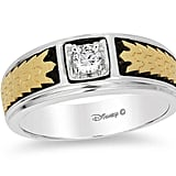 Enchanted Disney Men's Princess-Cut Diamond Solitaire Crown Band