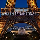 Eiffel Tower Paris Message on International Women's Day 2018