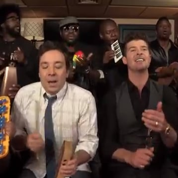 """Blurred Lines"" by Jimmy Fallon and the Roots"