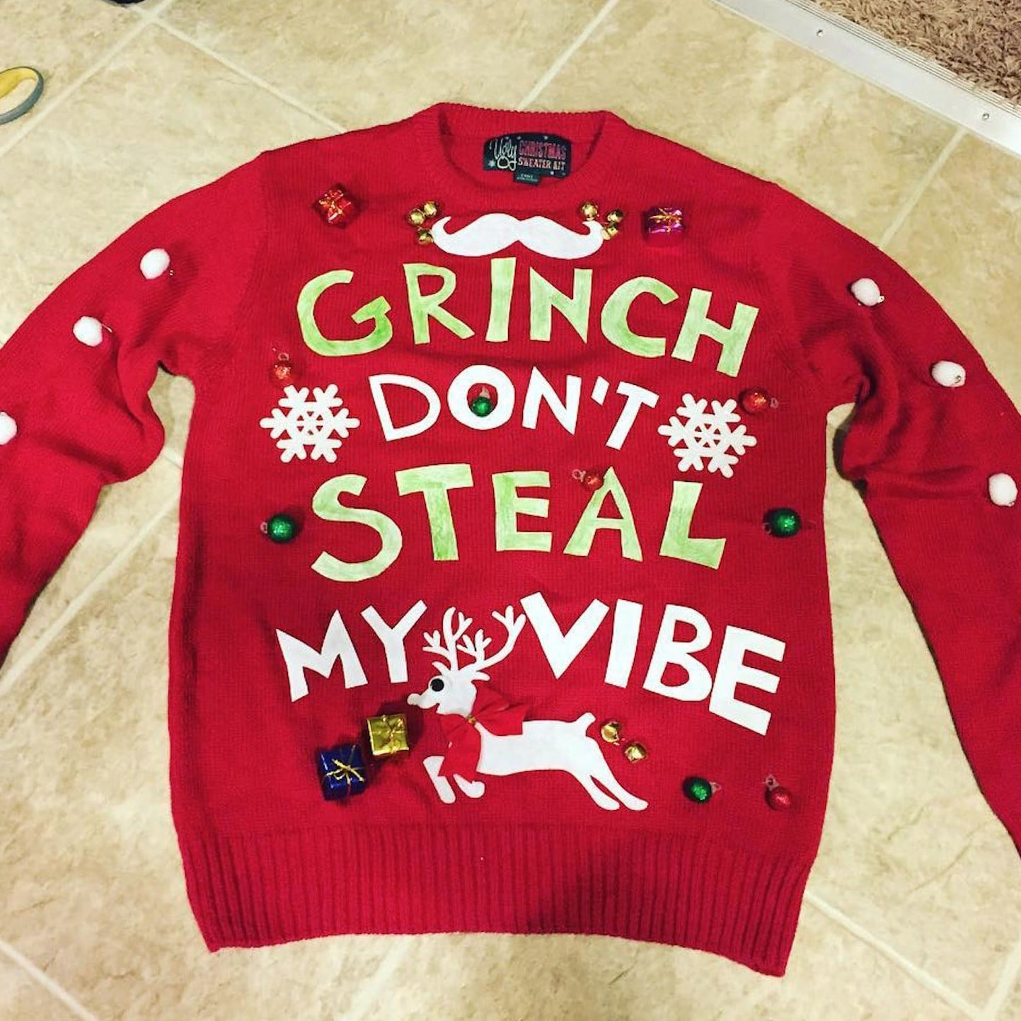 Grinch Don\'t Steal My Vibe | Ugly Christmas Sweater Ideas 2016 ...