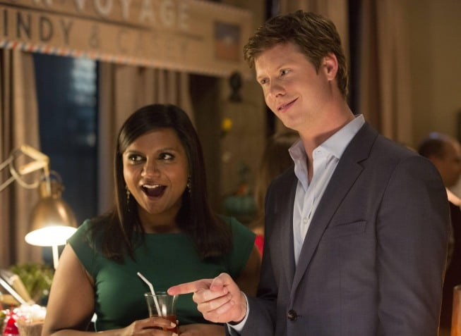 The Mindy Project What happens:  Mindy and Casey break up, but then get back together when she agrees to go to Haiti with him for a year. Danny and his ex-wife are still together, but he wants to slow things down.  Most shocking moment: With palpable sexual tension, Mindy and Danny almost kiss in the final moments of the episode.