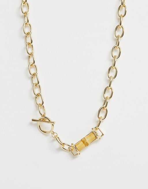 Liars & Lovers Chunky Chain & Bamboo Necklace