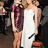 Chelsea Leyland and Kyleigh Kuhn at Calvin Klein's The Webster Miami party.