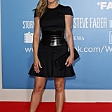Jennifer reprised her signature style in a classic black fit-and-flare dress by Alexander McQueen at the We're the Millers premiere in Germany.