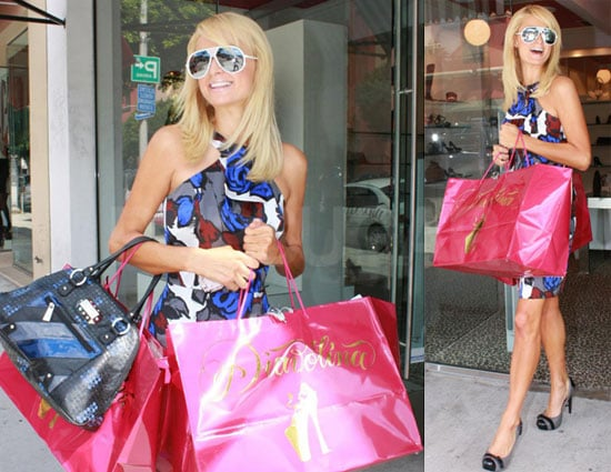 Photos of Paris Hilton Shopping in Los Angeles