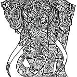 get the coloring page elephant - Print Coloring Pages For Adults
