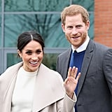 "Babies were once again on everybody's mind when Harry and Meghan met with a couple that create innovative and hypoallergenic baby products during their trip to Northern Ireland. During the exchange with the creators, Sinead and Adam Murphy, Meghan said, whilst pointing at one of the items, ""I'm sure at some point we'll need the whole thing."""