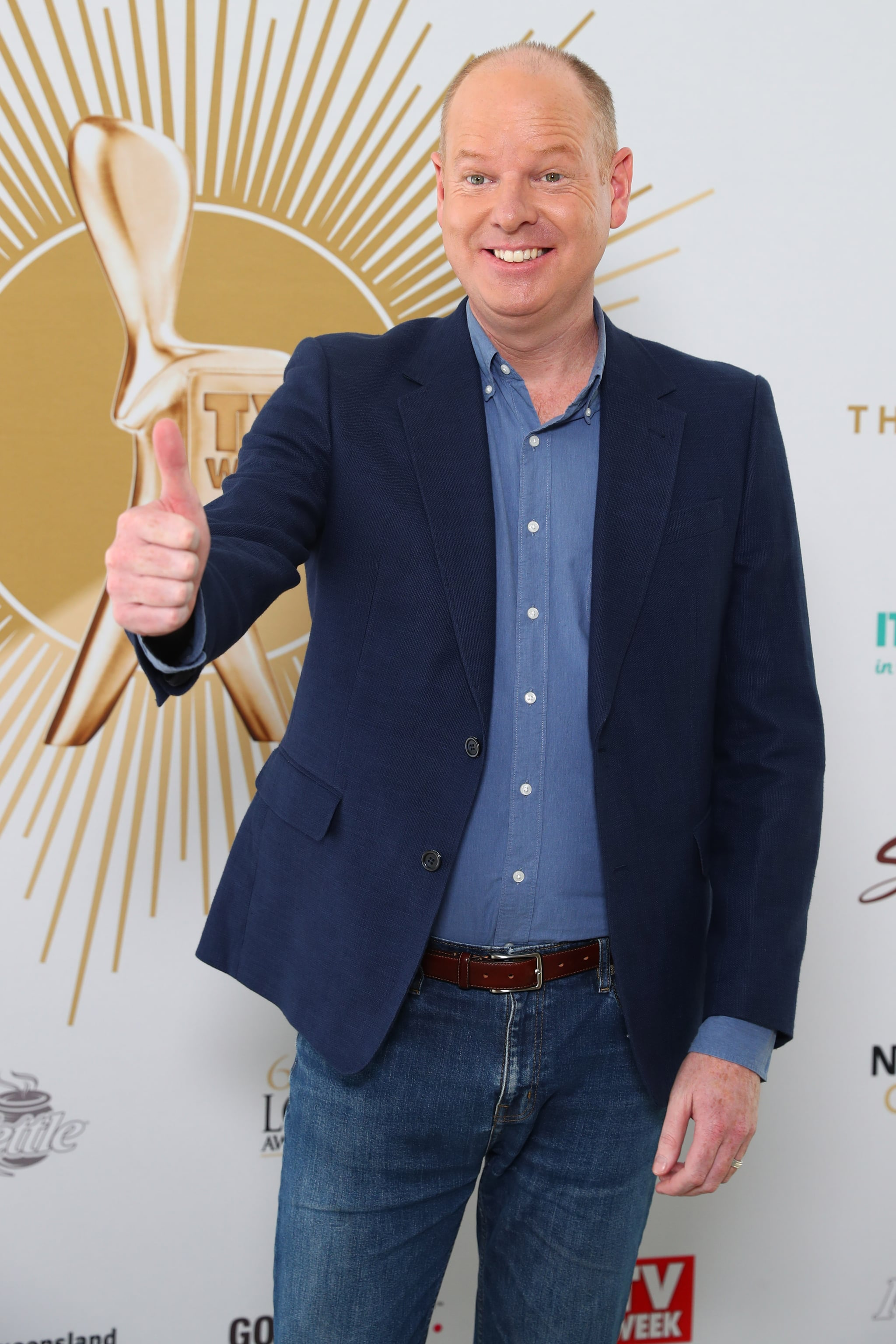 GOLD COAST, AUSTRALIA - MAY 26: Tom Gleeson Poses the 2019 TV WEEK Logie Awards Nominations Party at The Star Gold Coast on May 26, 2019 in Gold Coast, Australia. (Photo by Chris Hyde/Getty Images)