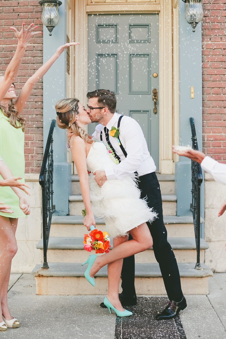 Just-Married Kiss