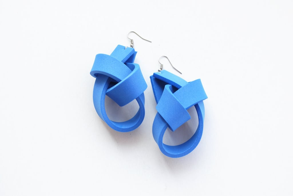 Blue Knot Earrings
