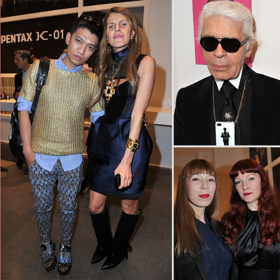 Pictures of Karl Lagerfeld, Anna Dello Russo, Leigh Lezark at the Marc Newson Camera Launch in Paris