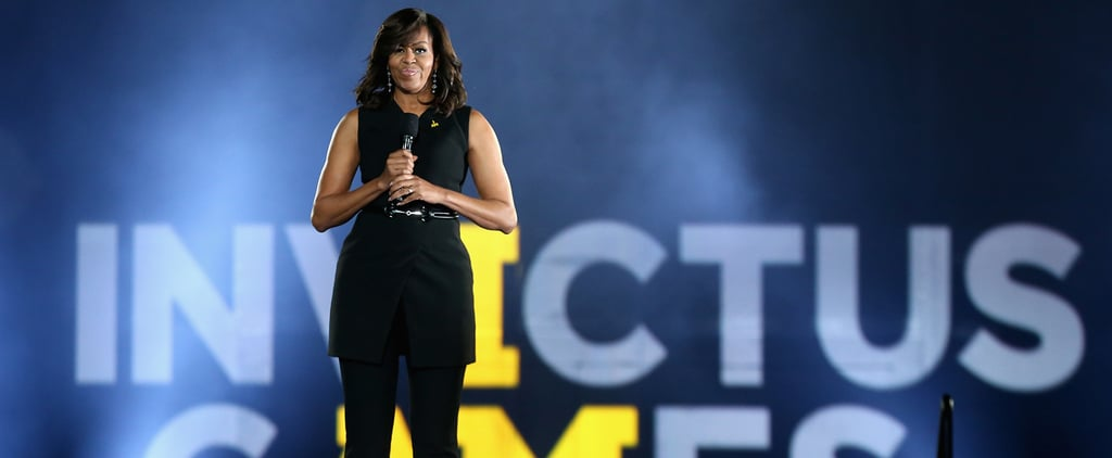 Michelle Obama's Sleeveless Spring Suit Is Not Without the Fashion-Girl Fixings