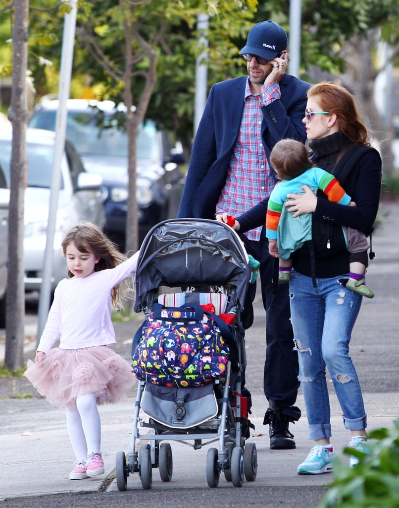 Isla Fisher, Sacha Baron Cohen, Elula Cohen, and Olive Cohen enjoyed the nice weather in Sydney.
