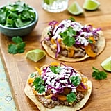 Vegetable and Bean Tostadas