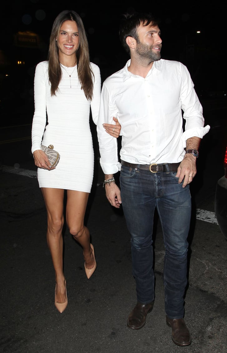 Alessandra Ambrosio Celebrates Her Birthday in a Sexy White Dress
