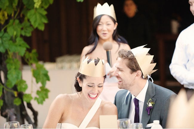 Golden Storybook Crowned Couple