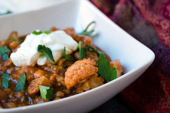 Southern Skillet Black-Eyed Peas and Cauliflower