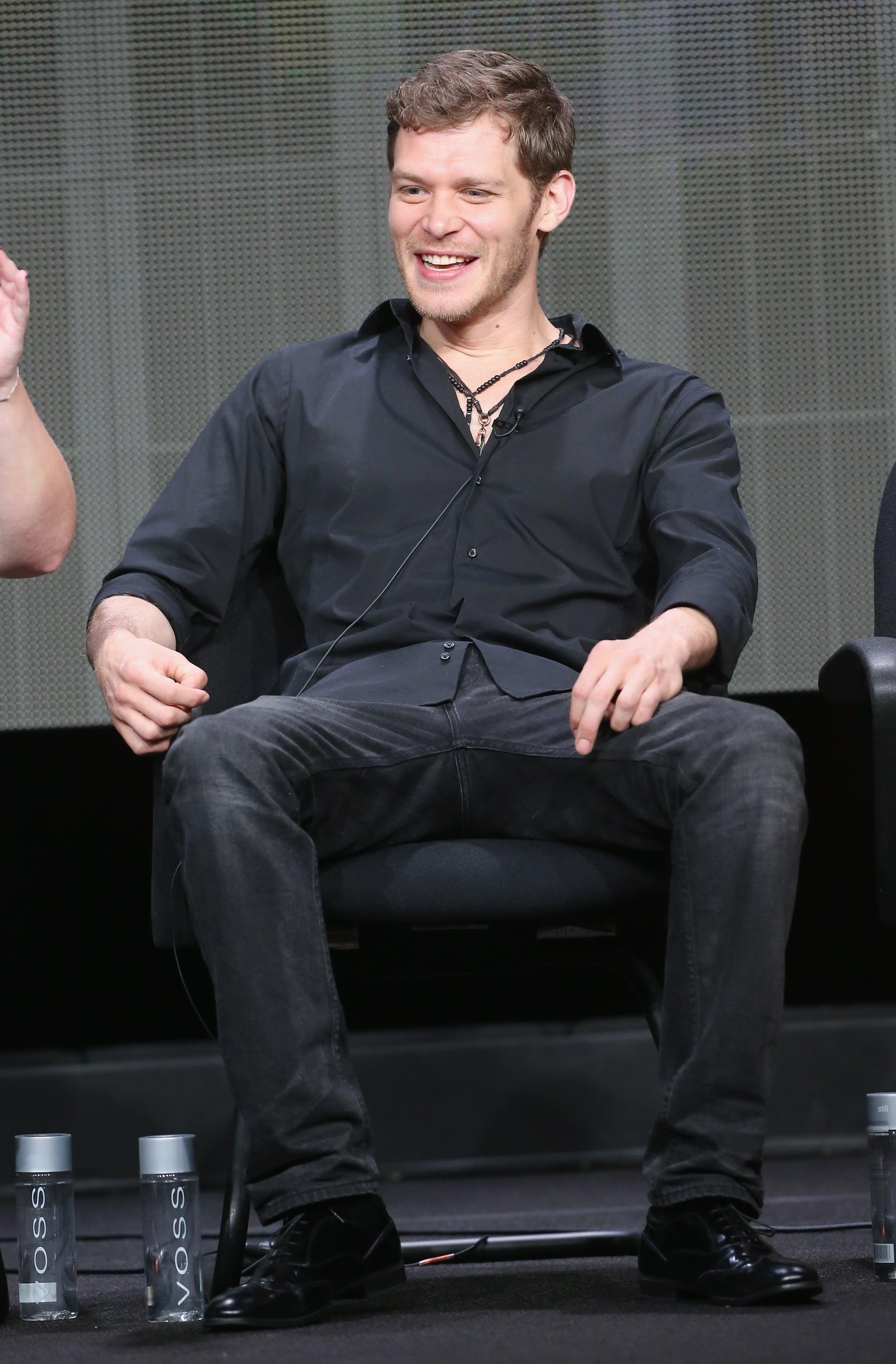 Joseph Morgan spoke on a panel at the Summer TCA Press Tour in LA.