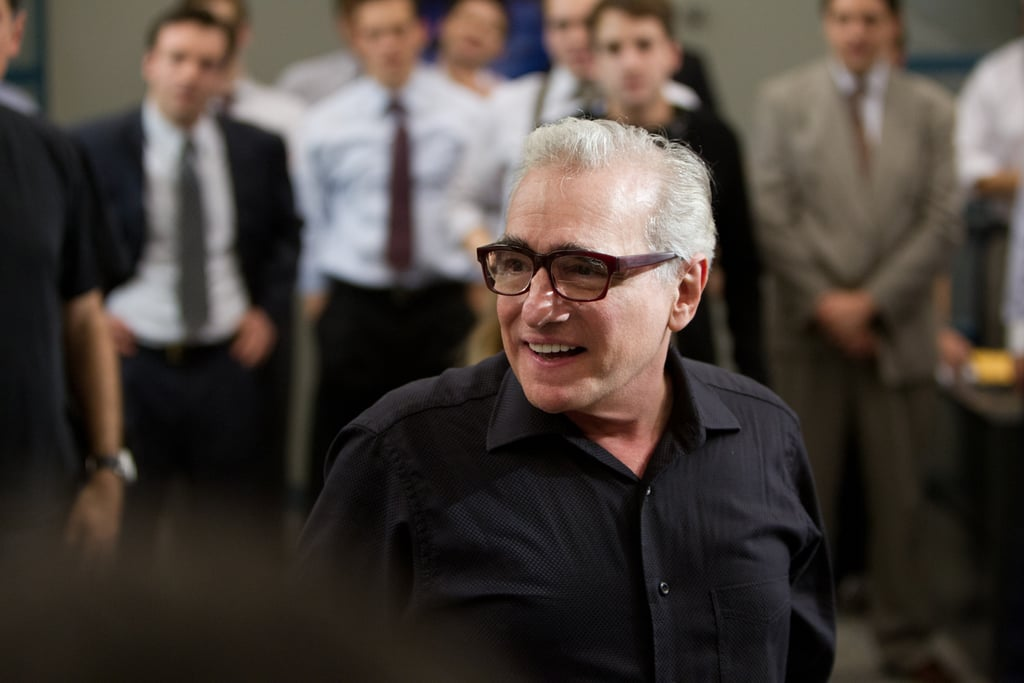 Director Martin Scorsese made an appearance on set.