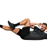 Bicycle Crunches: Continuous for 40 seconds