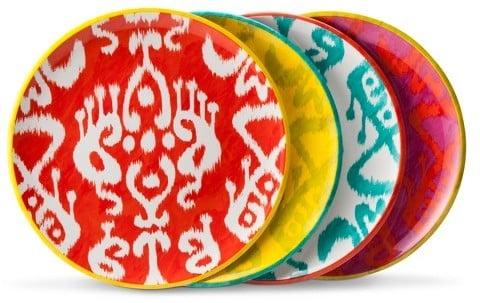 Mudhut MudhutTM Ikat Dinner Plate Set of 4 ($14.99)