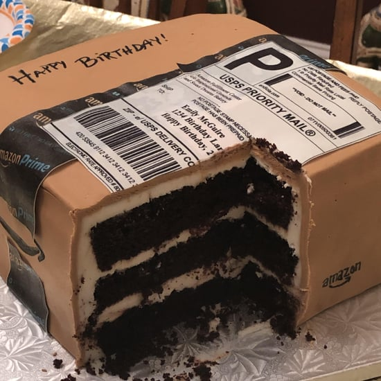 Husband Gives Wife Amazon Box Cake For Her Birthday