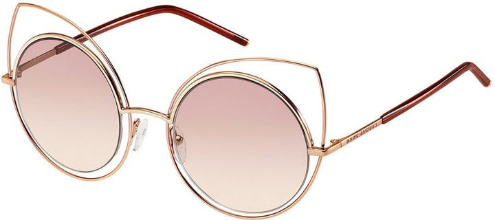 Marc Jacobs Metal-Rim Gradient Cat-Eye Sunglasses ($200)