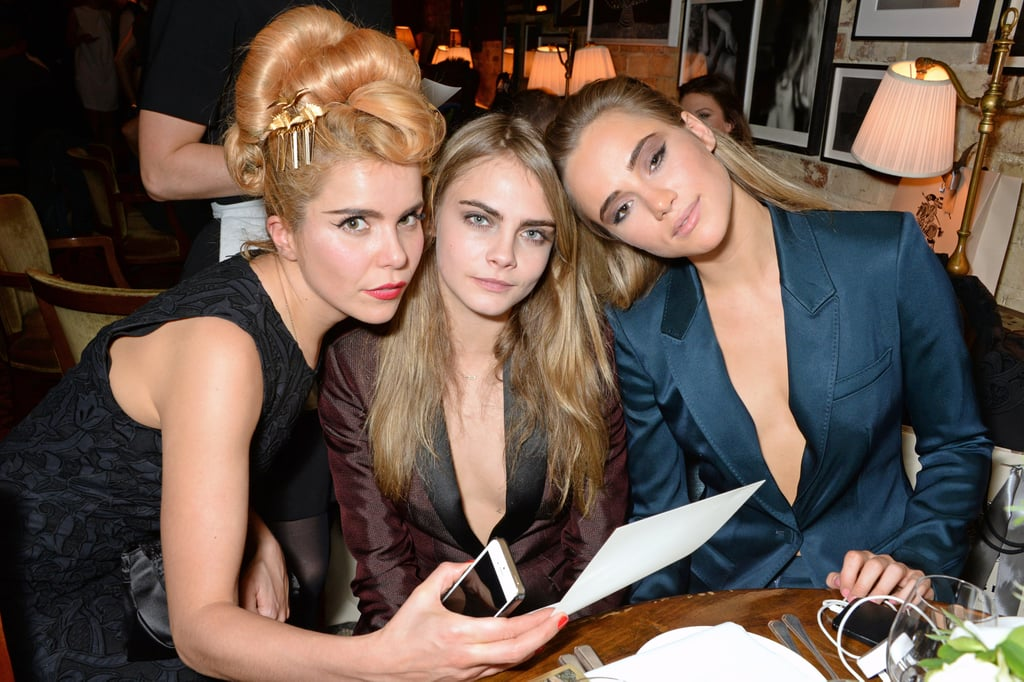 Suki and Cara posed with singer Paloma Faith.