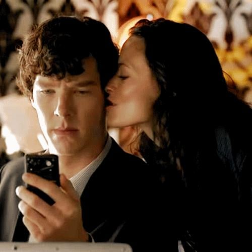 When he was distracted for a split second by Irene Adler and we fell in love with his eyebrow.