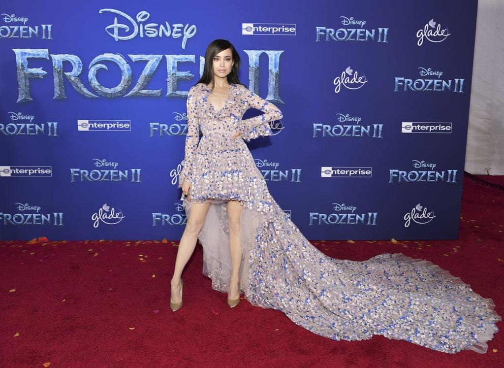 Sofia Carson at the Frozen 2 Premiere in Los Angeles