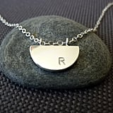 Half Moon Initial Necklace