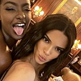 Kendall Jenner's Crimped Hair At the Bieber Wedding