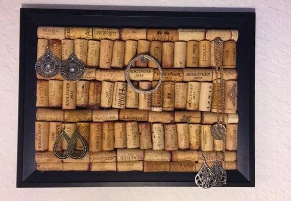wine cork jewellery holder