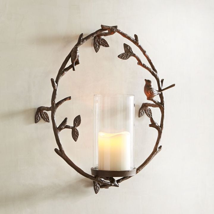 Pier 1 Imports Bird on a Twig Candle Holder Wall Sconce