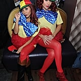 Snooki and JWoww opted for a costume change at their 2013 Halloween event, switching it up as Tweedledee and Tweedledum.
