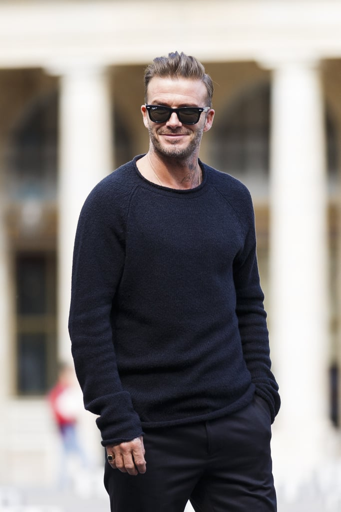 david beckham at paris fashion week 2016 popsugar celebrity photo 7. Black Bedroom Furniture Sets. Home Design Ideas