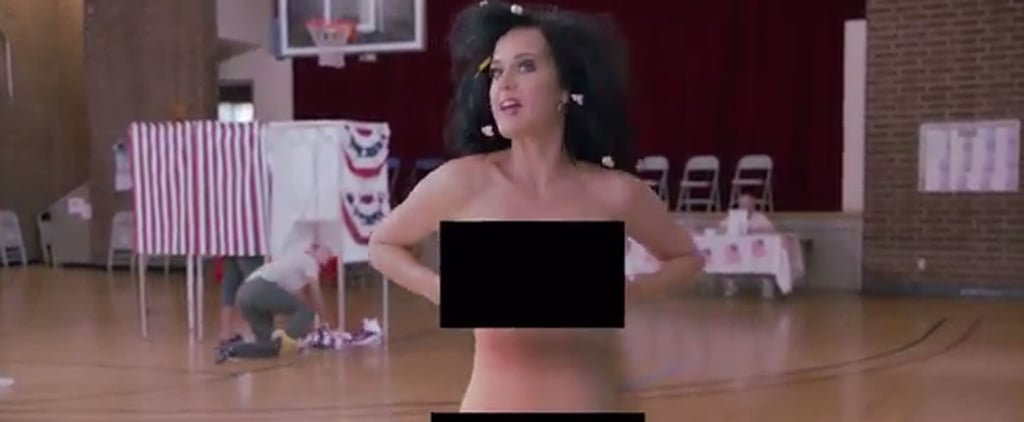 Katy Perry Strips Naked and Gets Arrested All in the Name of Voting