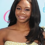Long, flowing locks and simple makeup made for an elegant look on Gabby Douglas.
