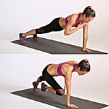 Plank With Alternating Shoulder and Knee Tap