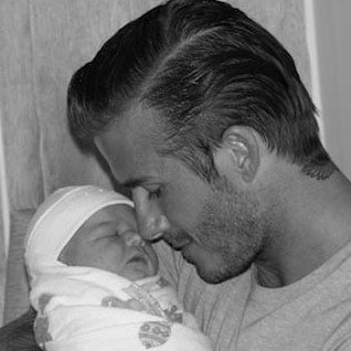 Victoria and David Beckham Release First Picture of Harper Seven on Facebook and Twitter