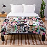 K-Pop Collage Throw Blanket