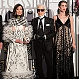 Princess Caroline of Hanover, Karl Lagerfeld, and Charlotte Casiraghi