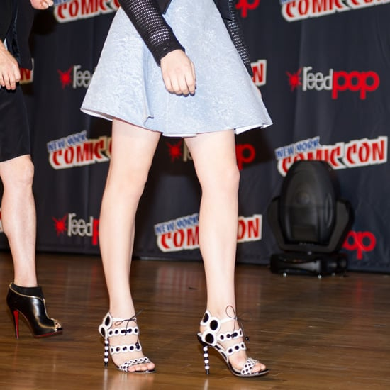 Chloe Moretz Wearing Polka Dot Sandals