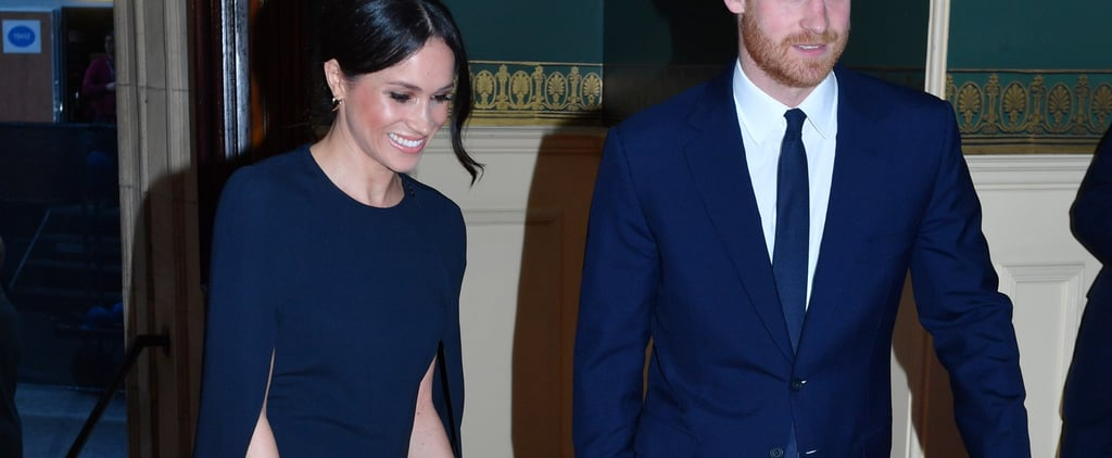 Meghan Markle Navy Stella McCartney Cape Dress