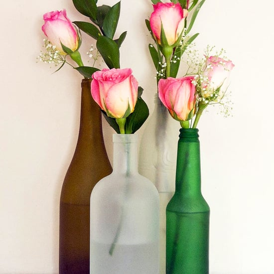 DIY Frosted Glass Bottles
