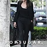 Angelina Jolie Wearing Black Kitten Heels May 2018