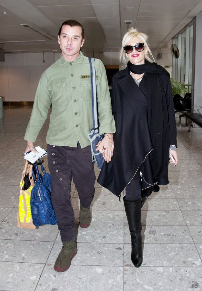 Gwen Stefani and Gavin Rossdale at Heathrow Airport.