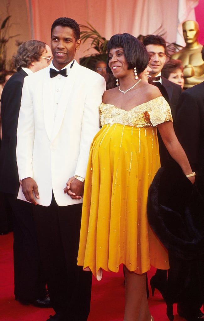 Denzel Washington and Wife Pauletta at the 63rd Annual Academy Awards in 1991