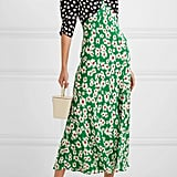 RIXO Martha Printed Silk Crepe de Chine Midi Dress ($481.12)