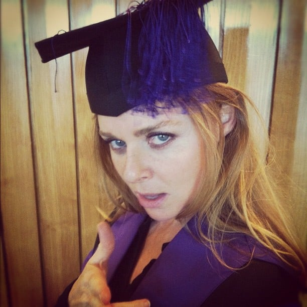 Stella McCartney struck a pose before accepting her Honorary Fellowship at the Central Saint Martins graduation. Source: Instagram user emmaroberts6